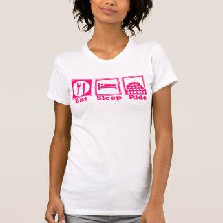 T-shirt Mangez, dormez, et montez (des montagnes russes) -