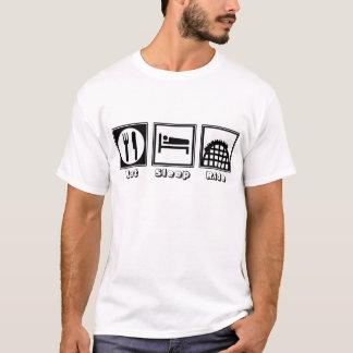 T-shirt Mangez, dormez, et montez (les montagnes russes)