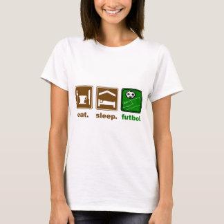 T-shirt mangez, dormez, football