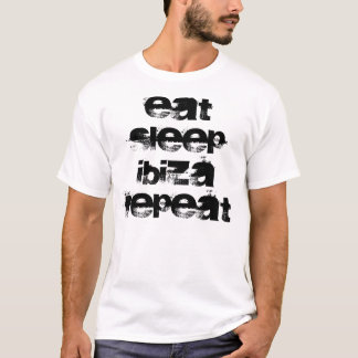 T-shirt Mangez, dormez, Ibiza, répétition