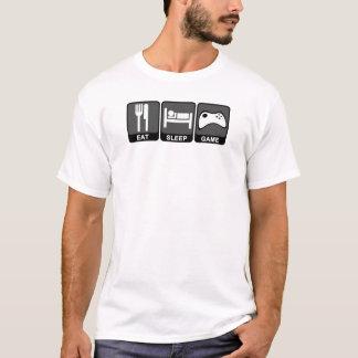 T-shirt Mangez, dormez, jeu