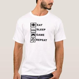 T-shirt Mangez, dormez, jeu, répétition