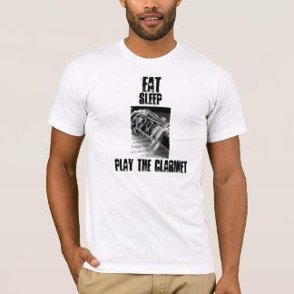 T-shirt Mangez, dormez, jouez la clarinette,