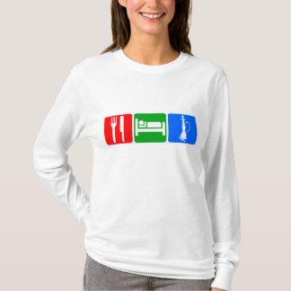 T-shirt Mangez, dormez, narguilé