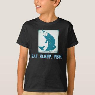 T-shirt Mangez, dormez, pêchez la pièce en t de la