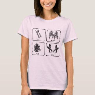T-shirt Mangez, dormez, roulez, traitez