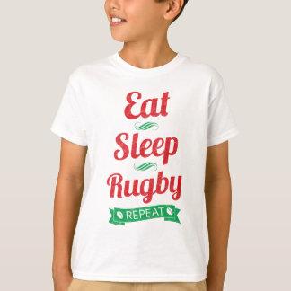 T-shirt Mangez, dormez, rugby, pièce en t de répétition