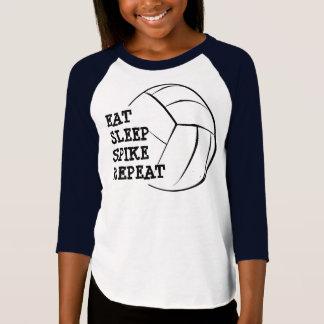 T-shirt Mangez la chemise de raglan de volleyball de