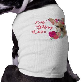 T-shirt Mangez la chemise mignonne de chien de bouledogue