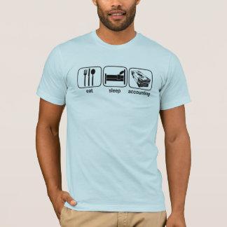 T-shirt Mangez la comptabilité de sommeil