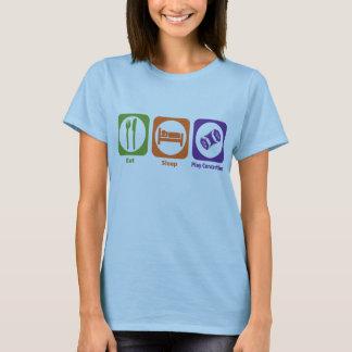 T-shirt Mangez la concertina de jeu de sommeil