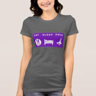 T-shirt Mangez la pièce en t de dames de Polonais de