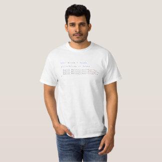T-shirt Mangez la plaisanterie de répétition de code de