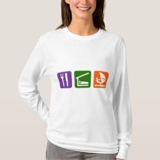T-shirt Mangez la planche à voile de sommeil