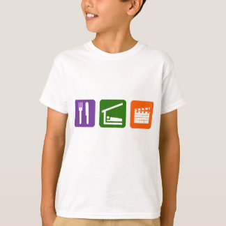 T-shirt Mangez la production cinématographique de sommeil