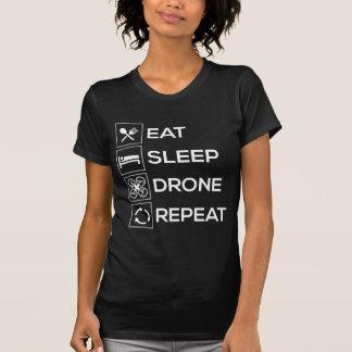 T-shirt Mangez la répétition de bourdon de sommeil
