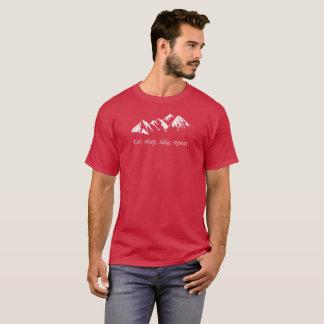 T-shirt Mangez la répétition de hausse de sommeil. Hausse