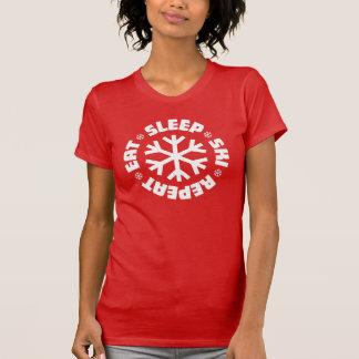 T-shirt Mangez la répétition de ski de sommeil (le
