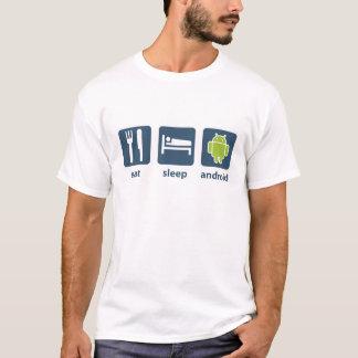 T-shirt Mangez l'androïde de sommeil