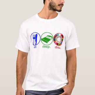 T-shirt Mangez l'aspiration de sommeil