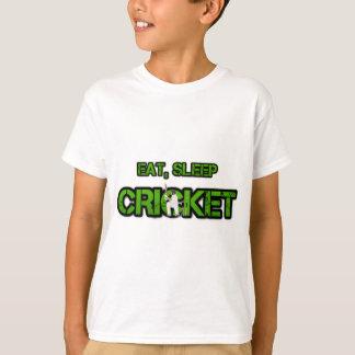 T-shirt Mangez le cricket de sommeil