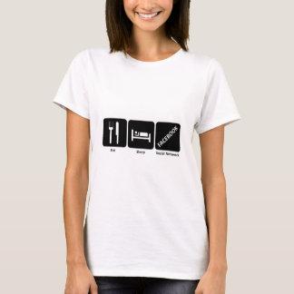 T-shirt Mangez le facebook de sommeil