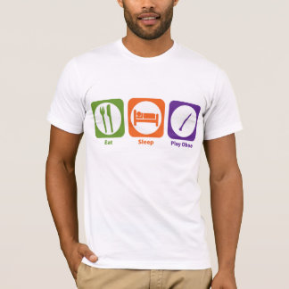 T-shirt Mangez le hautbois de jeu de sommeil