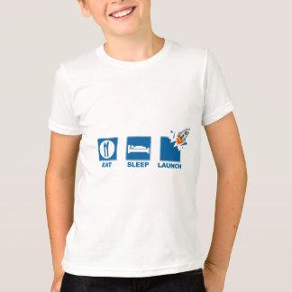 T-shirt Mangez le lancement de sommeil