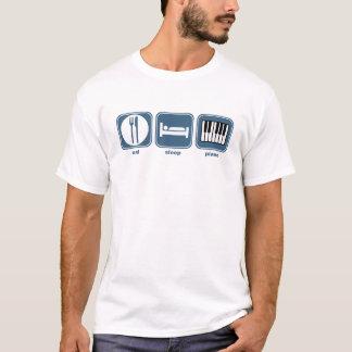 T-shirt mangez le piano de sommeil