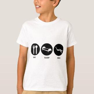 T-shirt Mangez le piqué de sommeil