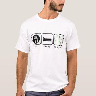 T-shirt Mangez le programme de sommeil