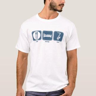 T-shirt mangez le saxo de sommeil