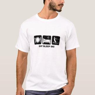 T-shirt mangez le ski d'eau de sommeil