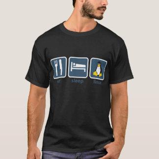 T-shirt Mangez le sommeil Linux