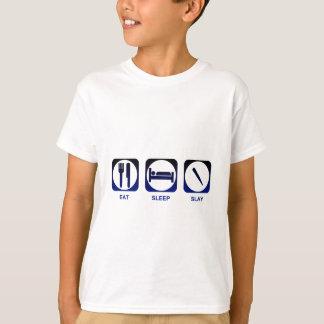 T-shirt Mangez le sommeil massacrent