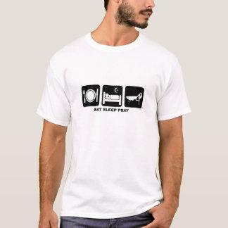 T-shirt mangez le sommeil prient