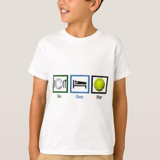 T-shirt Mangez le tennis de jeu de sommeil