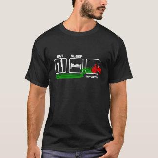 T-shirt Mangez le tracteur de sommeil