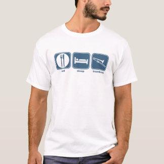 T-shirt mangez le trombone de sommeil