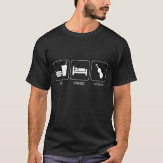 T-shirt mangez le violon de sommeil - obscurité