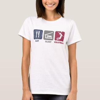 T-shirt Mangez le volleyball de sommeil - fille