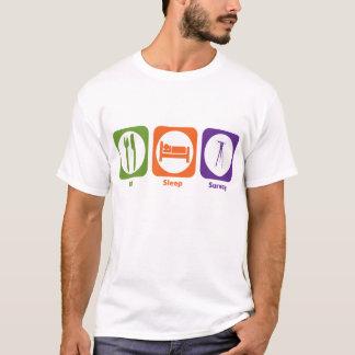 T-shirt Mangez l'enquête de sommeil