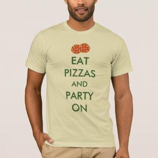 T-shirt Mangez les pizzas et la partie dessus