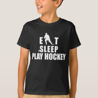 T-shirt Mangez l'hockey de jeu de sommeil