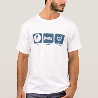 T-shirt mangez l'hockey de sommeil