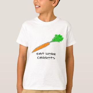T-shirt Mangez plus de chemises de carottes