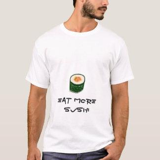 T-shirt Mangez plus de chemises de sushi