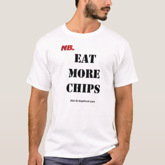 T-shirt MANGEZ PLUS de PUCES (la lumière)