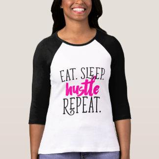 """T-shirt """"Mangez. Sommeil. Hâte. Répétition."""" Pièce en t de"""