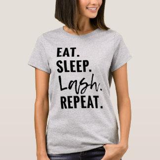 T-shirt Mangez. Sommeil. Mèche. Répétition